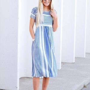 Orange Creek Chambray Blue Dress